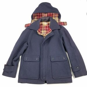 Lobo Pendleton Pure Virgin Wool Hooded Jacket Coat